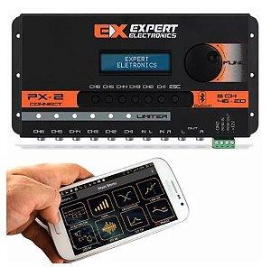 Crossover Expert PX2 Connect 6 Canais Processador de Áudio Digital Equalizador Bluetooth Banda
