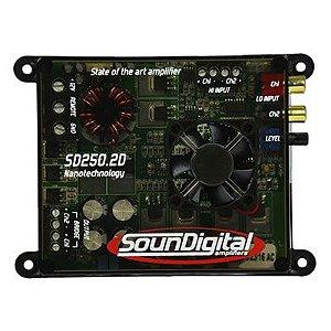 Modulo Amplificador Sd 250 Digital 300w Rms Sd250.2 Estereo