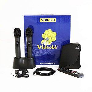 Aparelho de videokê VSK 3.0 c/ 2.935 canções nacionais