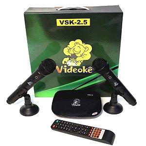 Aparelho Videoke Vsk2.5 Com 200 Músicas Nacionais Lançamento