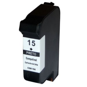 CARTUCHO COMPATÍVEL HP 15 / 6615A XL 40ML PRETO
