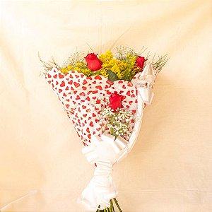 Elegance 6 Rosas Vermelhas