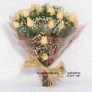 Buquê com Rosas Elegance Champanhe