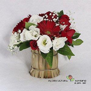 Mix Rosas, Lisianthus e Gérberas