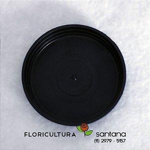 Prato de Plástico Preto 09 cm