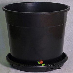 Vaso de Polipropileno Preto - N9 - 57x42cm