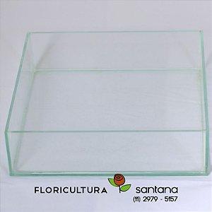 Cachepot Vidro 5,5x20x20cm