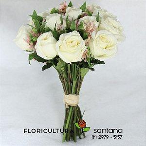 Buquê Carinho - Rosas Brancas
