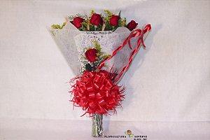 Buquê com 12 Rosas Vermelhas Elegance