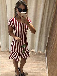 Vestido Listra Vermelho