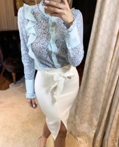 Camisa Aline azul