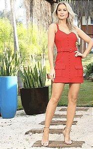 Vestido vermelho marisa