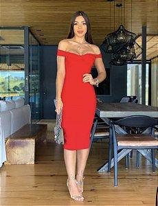 Vestido mid vermelho
