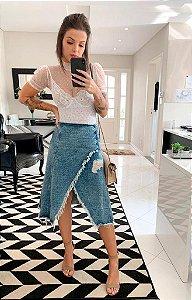 Saia jeans mid