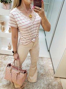 Blusa Listra Rosa