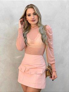 Shorts Saia rosa