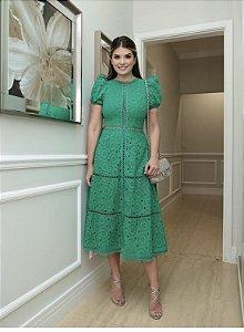 Vestido Mid laise verde