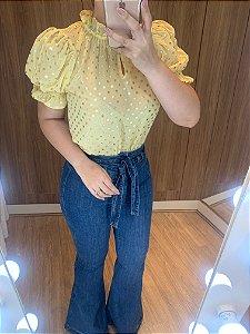 Blusa Póa amarela