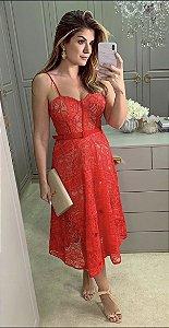 Vestido Mid Vermelho Ariane
