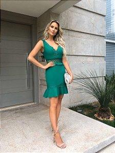 Vestido Receba verde