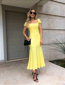 Vestido Mid Amarelo