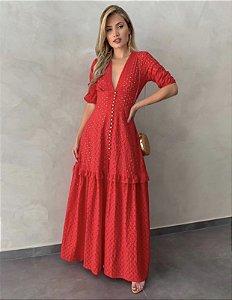 Vestido leise vermelho