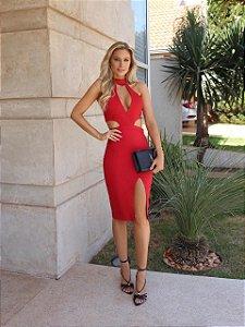 Vestido Salete vermelho
