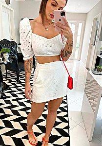 Conjunto Cropped + Shorts saia