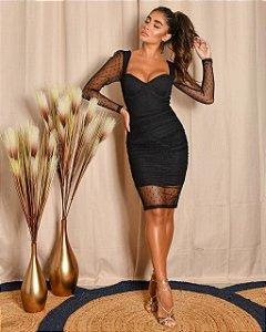 Vestido Tule Black
