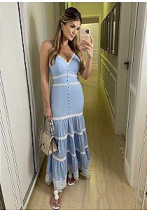 Vestido Mid Ariane Azul