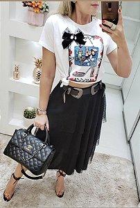 Conjunto Saia Black + Blusa