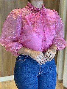 Camisa Organza Rosa