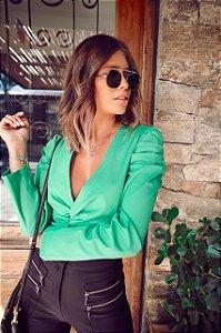 Cropped tricoline verde