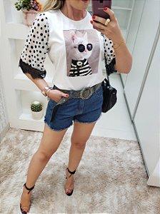T-shirt gatinho póa