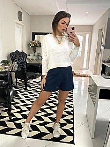 Blusa Trico Ml Branco