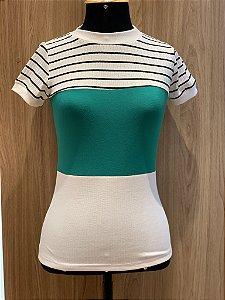 Blusa Verde canelada