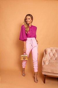 Calça joguer rosa clara