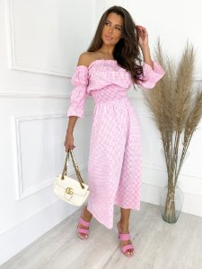 Vestido lastex Rosa