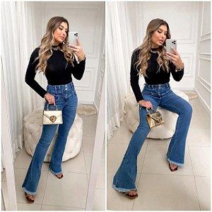 Calça Jeans Mini Flare