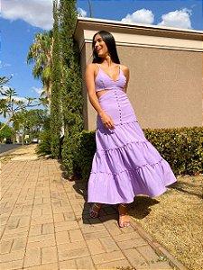 Vestido Mid Lavanda