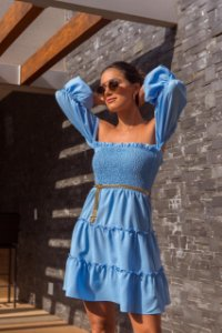 Vestido Roberta azul