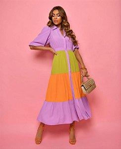 Vestido Midi Color