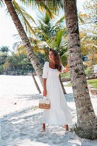 Vestido Mid Branco