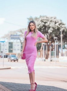 Vestido Rosa Ribana
