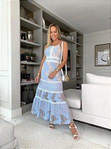 Vestido Mid Azul
