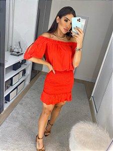 Vestido Amanda vermelho
