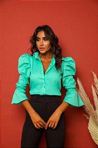 Camisa Tricoline Esmeralda