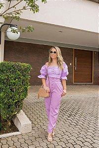 Calça lilás