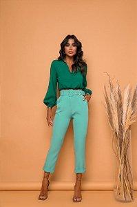 Calça Alfaiataria Verde Clara