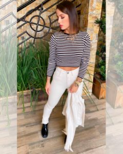 CROPPED TRICO LISTRA
